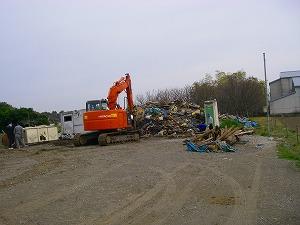横浜市泉区:廃棄物処分施工前