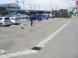 横浜市泉区:区画線改修施工前