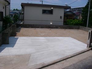 横浜市戸塚区:駐車場整備施工後