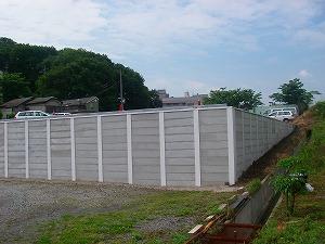 横浜市戸塚区:H形鋼土止め施工後