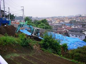 横浜市緑区:造成工事施工前