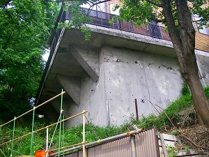 横浜市港南区:壁の補強工事施工前