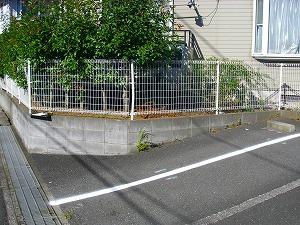 横浜市戸塚区:駐車場改修工事施工前