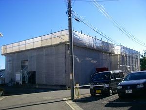 横浜市戸塚区:塗装工事施工中